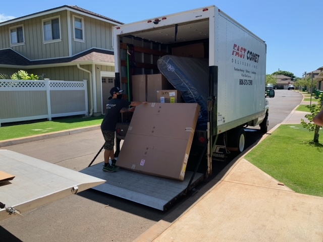 Home Furniture Installation by Fast Comet Delivery in Maui, Hawaii