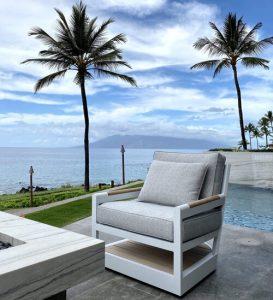 Makena House Installation - Lanai Seating and Views - Maui - Hawaii