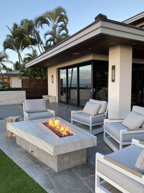 Makena House Installation - Lanai Fire Pit - Maui - Hawaii
